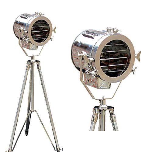 Nautical mini spot search light  chrome finish table lamp tripod table lamp home
