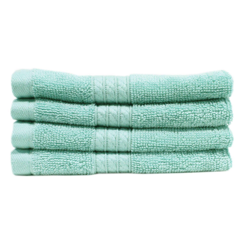 "100% Cotton Luxury Washcloth, 13"" x 13"" - 2 pk. - Light Blue"