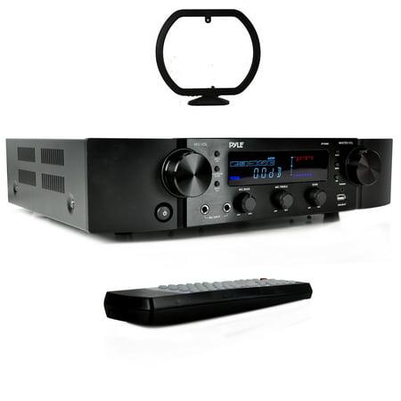 BT Hybrid Pre-Amplifier, Home Theater Stereo Pre-Amp Receiver, MP3/USB/AUX/FM