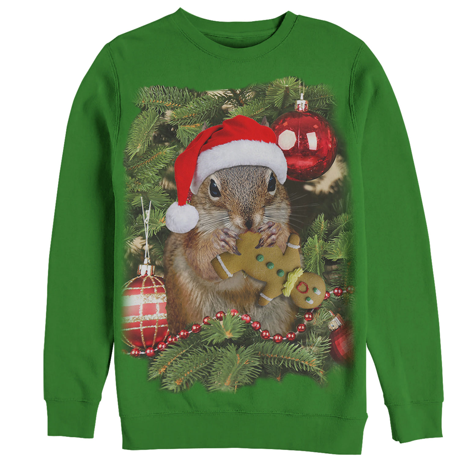 Men's Ugly Christmas Sweater Squirrel Cookie Sweatshirt