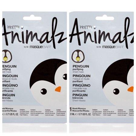 Pretty Animalz by Masque Bar Purifying Sheet Mask - Penguin, 2 Pack
