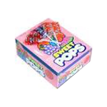 Charms Sweet Pops - 48 Lollipops/Box, Flavors: Blue Razzberry, Cherry, Grape, Orange, Strawberry, Watermelon By The Nutty Fruit House - Watermelon Suckers