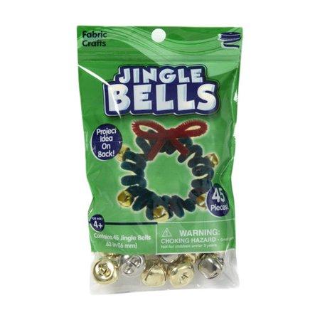 Silver Jingle Bells (Horizon Group GC Kids Craft 16 Millimeter Gold & Silver Jingle Bells, 1)