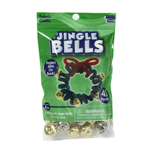 Kids Craft 16mm Jingle Bells, Gold/Silver