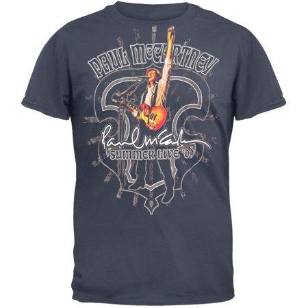 2009 Tour Shirt - Paul McCartney - Summer Live 2009 Tour Adult Soft T-Shirt
