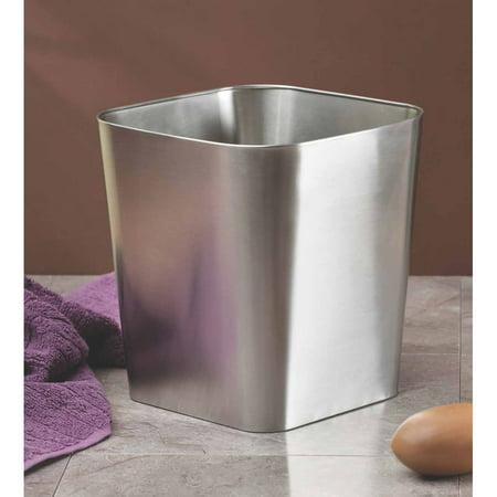 Brushed Brass Wastebasket (InterDesign Gia Wastebasket Trash Can, Brushed Stainless Steel )