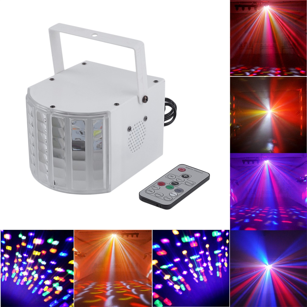 9 Color Stage Lighting LED Light Laser Holiday Party Disco Club DJ Bar Light Magic Crystal Ball Lamp With Remote Control by