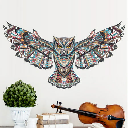 Large Owl Wall Decal Wall Sticker Mural Decor Removable Art for Kids Living Room (Wall Stickers Owl)