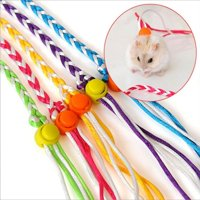 Pet Multicolor Hand Made Weaving Hamster Dual Purpose Traction Rope for Small Pets, Length: 1.4m, (Randon Color)
