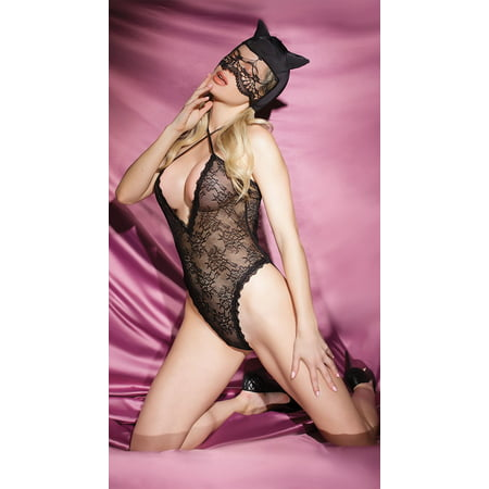 Kitten Babe Lingerie Costume - Coquette Costumes