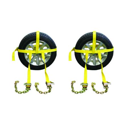 Side Mount Wheel Net w/ Cam Buckle & 2 Ratchets and Chain Extensions ()