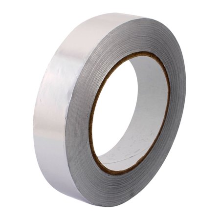 Uxcell 25mm Width 50m Long 0.06 Anti-tear Aluminum Foil Tape Duct Repair Adhesive Tape