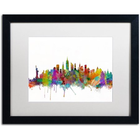 Trademark Fine Art \'New York City Skyline\' Canvas Art by Michael ...