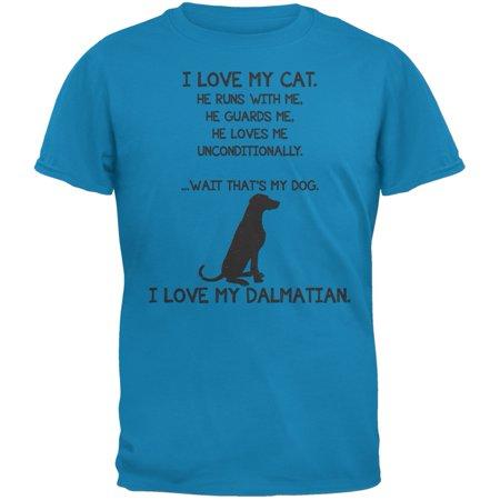 I Love My Dalmatian Boy Sapphire Blue Adult T-Shirt](101 Dalmatians Shirt)