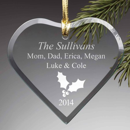 Personalized Glass Ornament - The Heart of Christmas