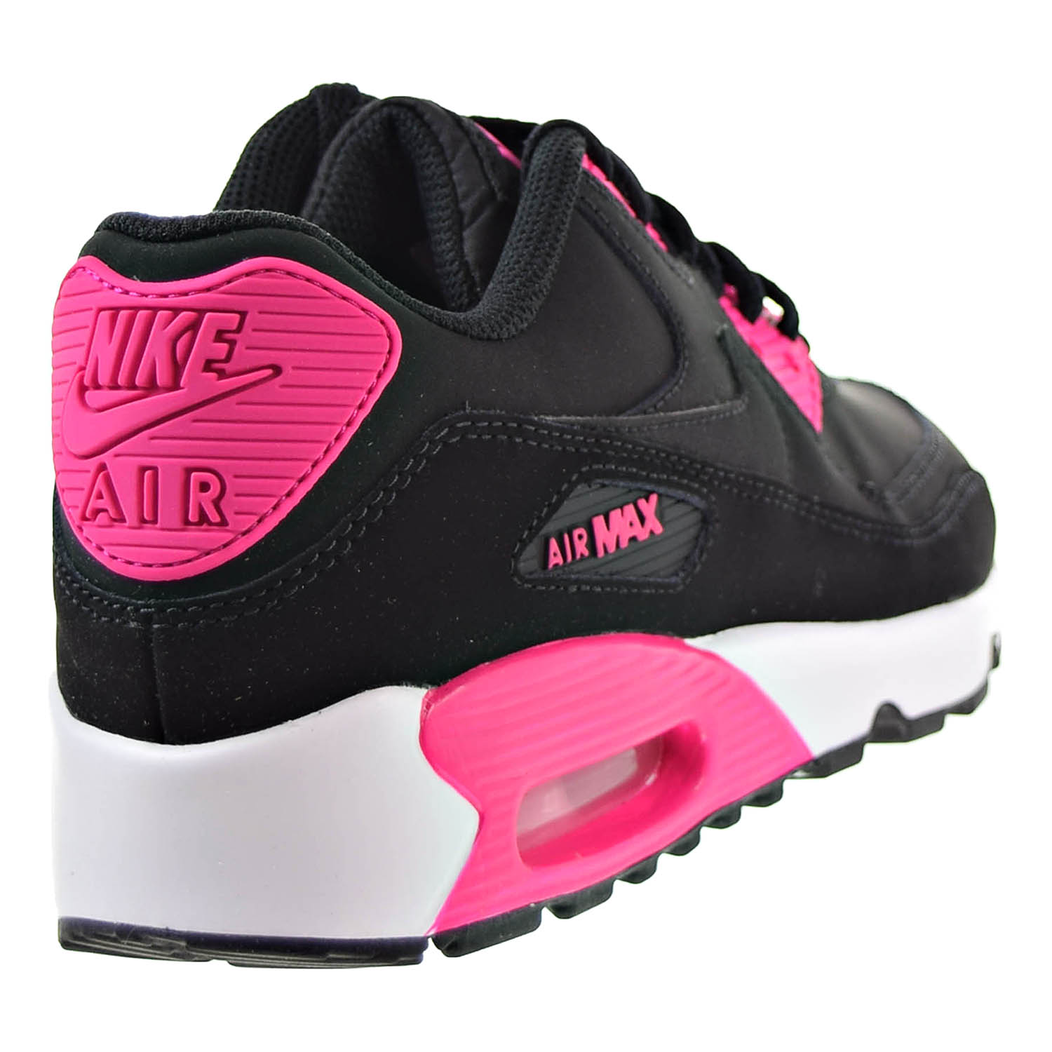newest df993 06cce ... usa nike nike air max 90 ltrgs big kids shoes black pink prime white  833376 010