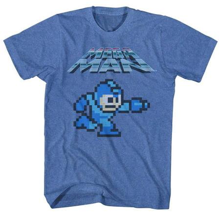 - Mega Man Gaming Mega Gunner Adult Short Sleeve T Shirt