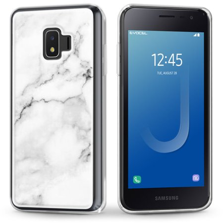 Galaxy J2 Core Case, Evocel [Stylish Design] [Slim Profile] [Easy Push Buttons] [Simple Installation] Iconic Series Phone Case for Samsung Galaxy J2 Core (J260), White