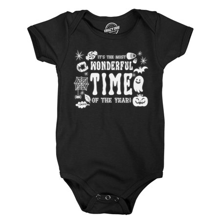 Creeper Its The Most Wonderful Time Of The Year Bodysuit Funny Halloween Jumper For Newborn (Most Wonderful Time Of The Year Halloween)