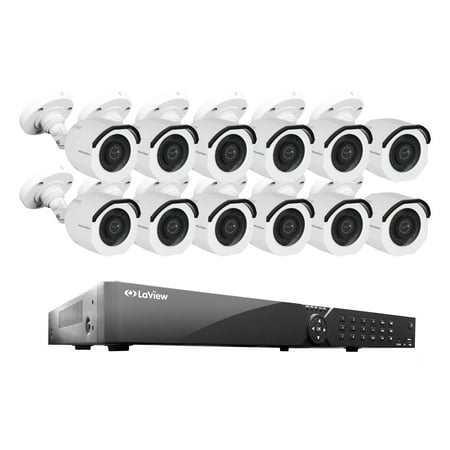 LaView 16 Channel DVR Security System W/12 HD 1080P Indoor/Outdoor Surveillance Cameras- Built in Storage 2TB HDD, Motion Detection, Remote View, Instant Mobile (Mobile Security Unit)