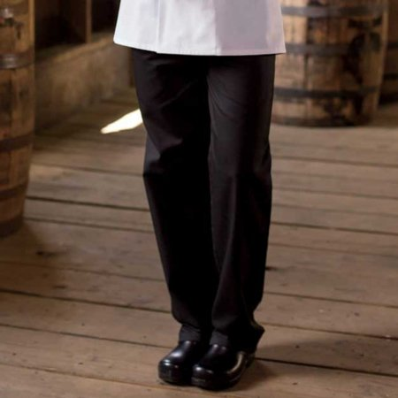Tailored Chef Pants (Black Ladies Chef Pants (Size: L) )