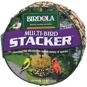 Birdola Multi-Bird Blend Stacker 6.4 Ounces, Stackable Seed Cake For Wild Birds