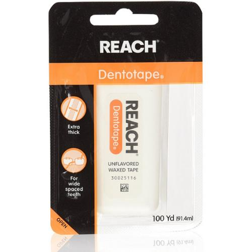 REACH Dentotape Waxed Tape, Unflavored 100 Yards (Pack of 2)