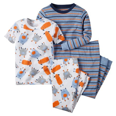 Carters Baby Clothing Outfit Boys 4-Piece Snug Fit Cotton PJs Multi Monster - Monster Outfit