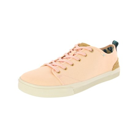 Toms Women's Travel Lite Low Canvas Coral Pink Ankle-High Fabric Fashion Sneaker -
