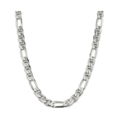 925 Sterling Silver 10.65mm Figaro Anchor Chain - image 1 of 5