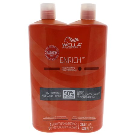 Wella Enrich Volumizing Shampoo & Conditioner For Fine To Normal Hair Duo - 33.8 oz Shampoo &