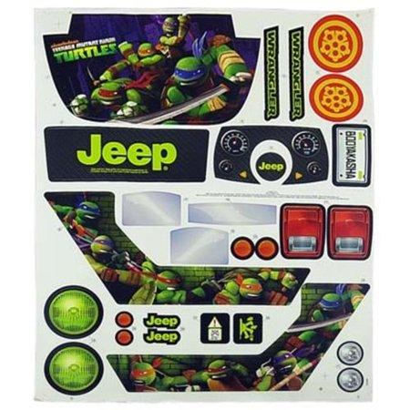 Power Wheels CHM44 Ninja Turtles Jeep Decal Label Sheet Genuine