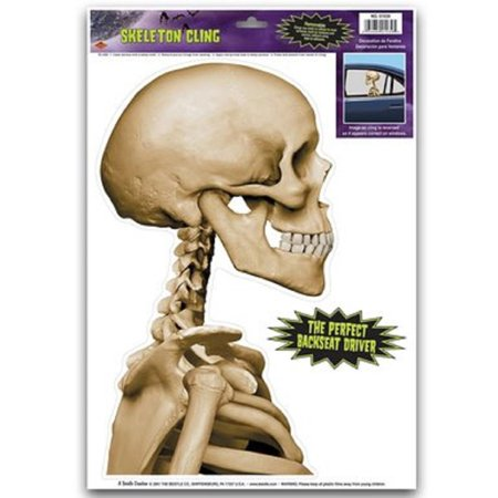 Pack of 12 Backseat Driver Skeleton Halloween Car Window Cling Decorations