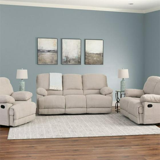 Corliving 3pc Chenille Fabric Reclining Sofa Set