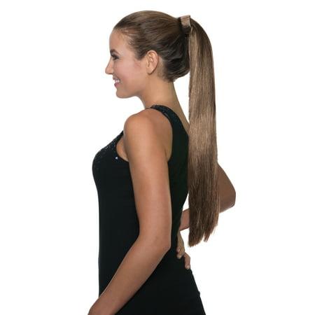 Brunette Clip On Ponytail Brown Ariana Grande Hair Pop Singer Wig - Brunette Wig