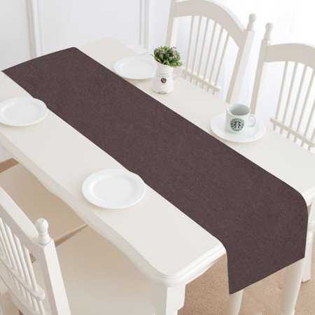YUSDECOR brown Table Runner for Kitchen Wedding Party Home Decor 14x72 inch - image 3 of 4