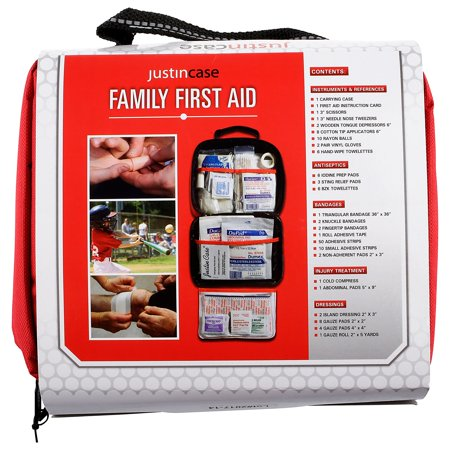First Aid Kit Metal Case (Justin Case Family First Aid Kit )