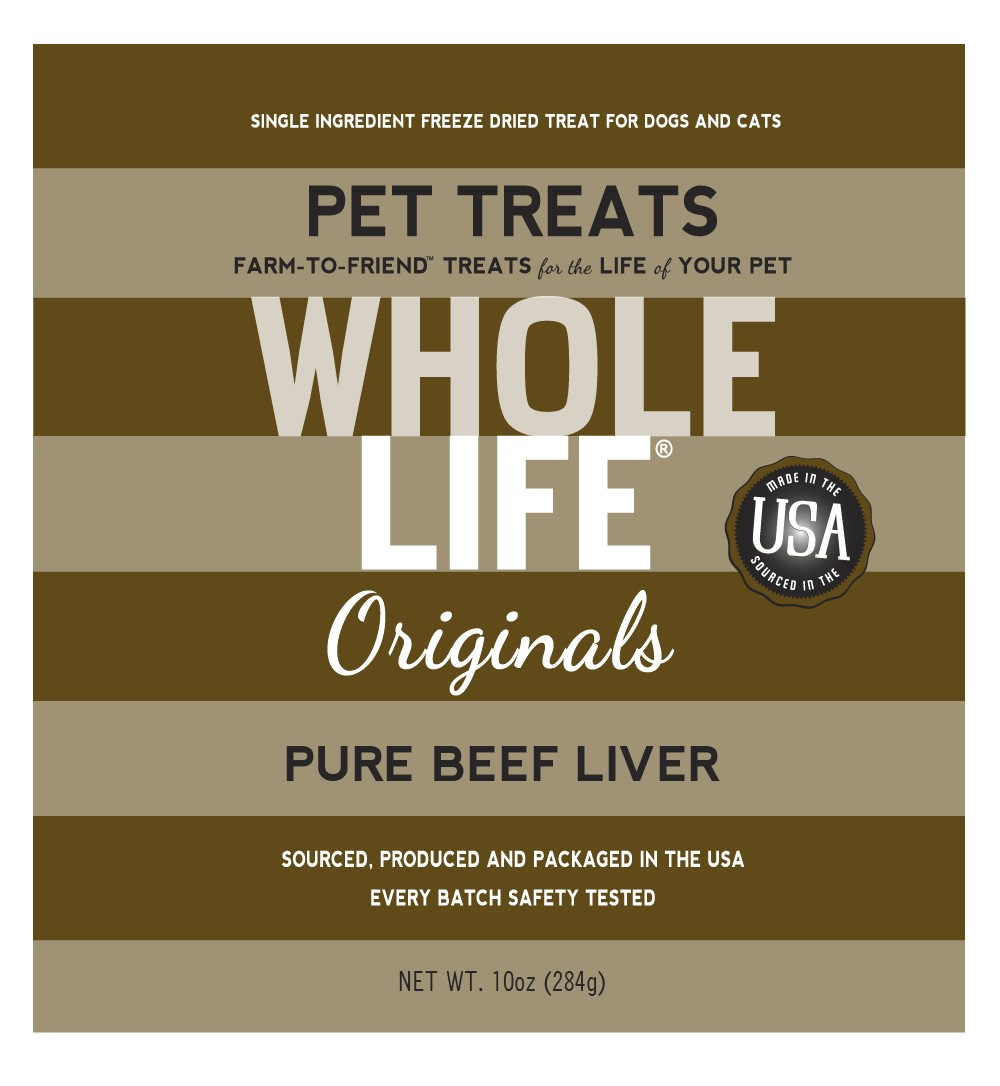 Whole Life Originals Grain-Free Pure Beef Liver Pet Treats, 10 Oz