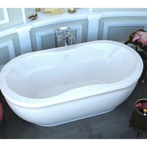 "Avano AV3471AA Lanai 71-1/4"" Acrylic Air Bathtub for Freestanding Installations with Center Drain"