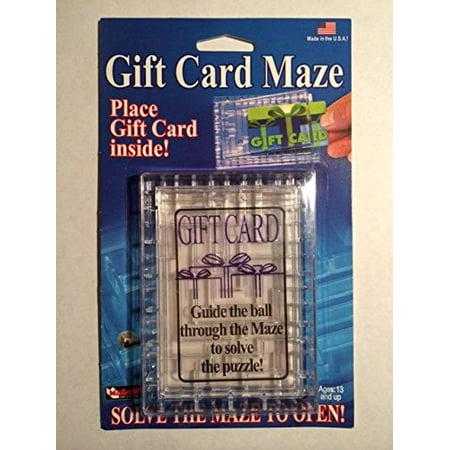 Gift Card Maze - Puzzle Brain Teaser - Fun Challenge Gag Gift Holder .HN#GG_634T6344 G134548TY69478 (Gift Card Holder Ideas)