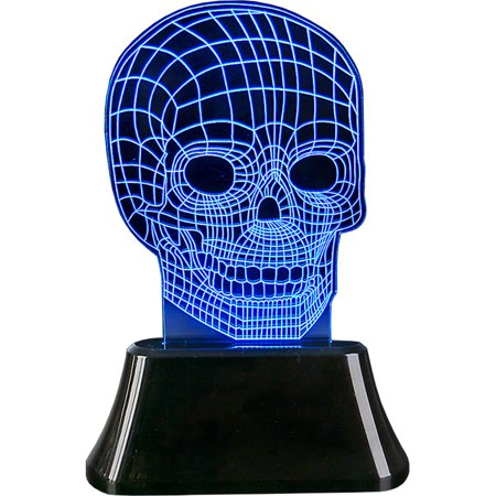 3D Laser Light Skeleton Skull Bedside Halloween Decoration (Skeleton Band Halloween Decoration)
