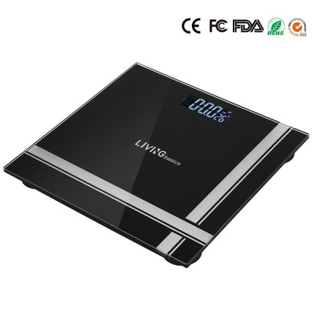 Bathroom Scale Digital Weight Glass Scale Step On