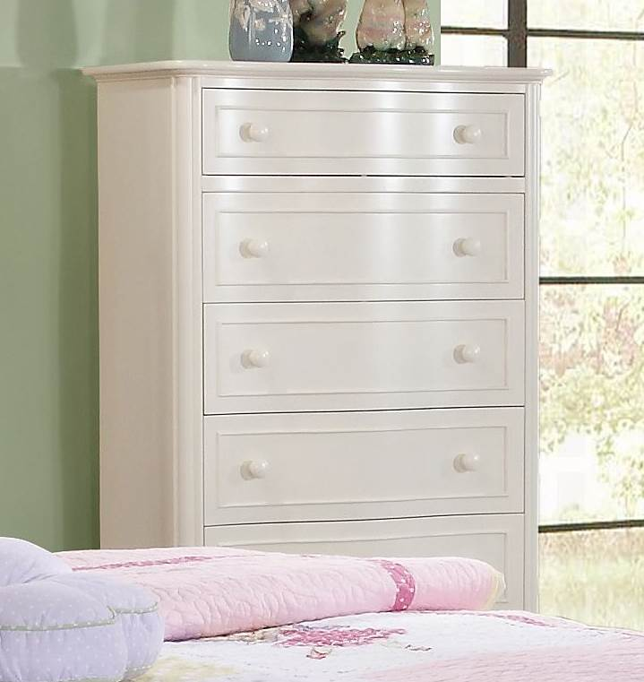 5-Drawer Chest with Painted Wood Knob