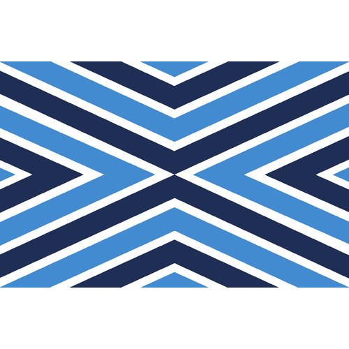 Belle Banquet Flag Chevron Placemat (Set of 6) by Belle Banquet