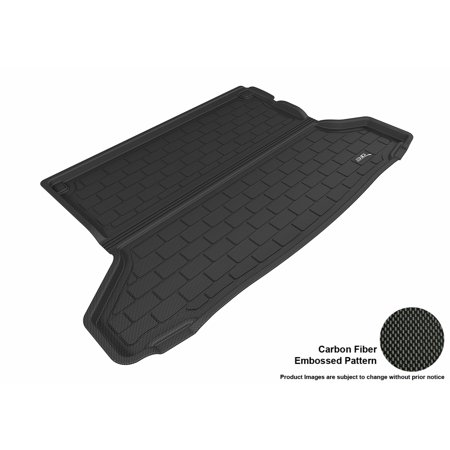 3D MAXpider 2016-2017 Honda HR-V All Weather Cargo Liner in Black with Carbon Fiber Look ()