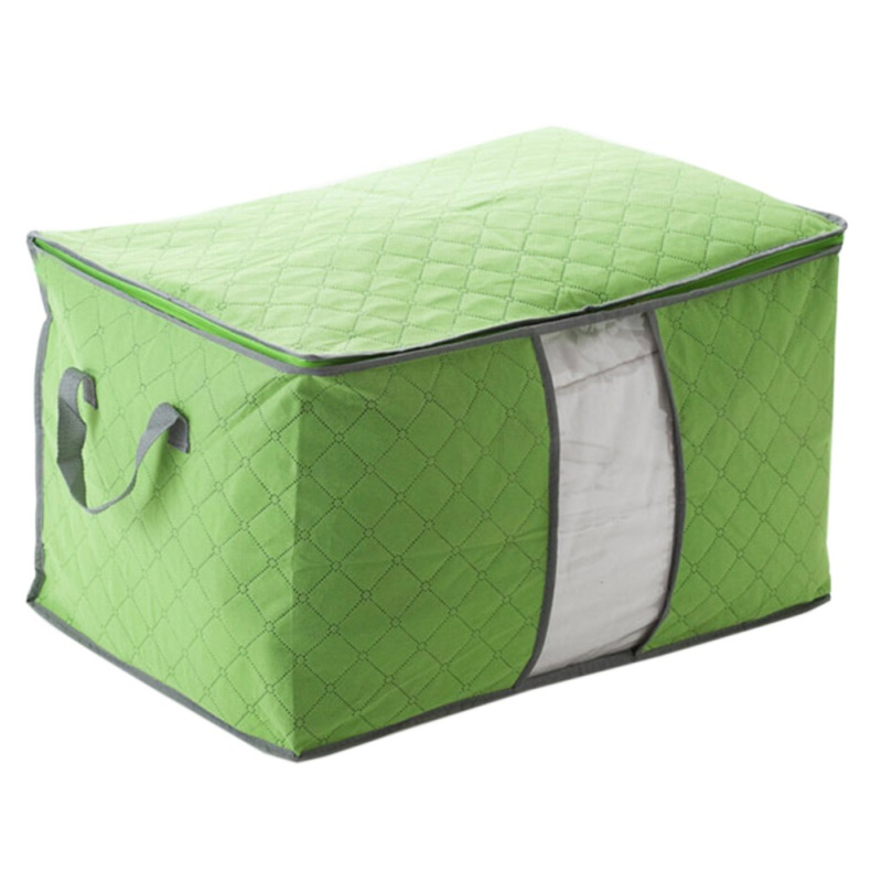 1PC Storage Bag Blanket Foldable Large bamboo charcoal Corlorful Pillow Box