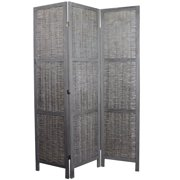 Sophisticated Paulownia Room Divider in Grey Finish by Entrada by Entrada