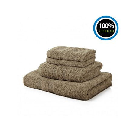 100% Cotton Towels | 4 Washcloths 1 Hand Towels 1 Bath Towel Hotel & Spa Bale Set For Bathroom