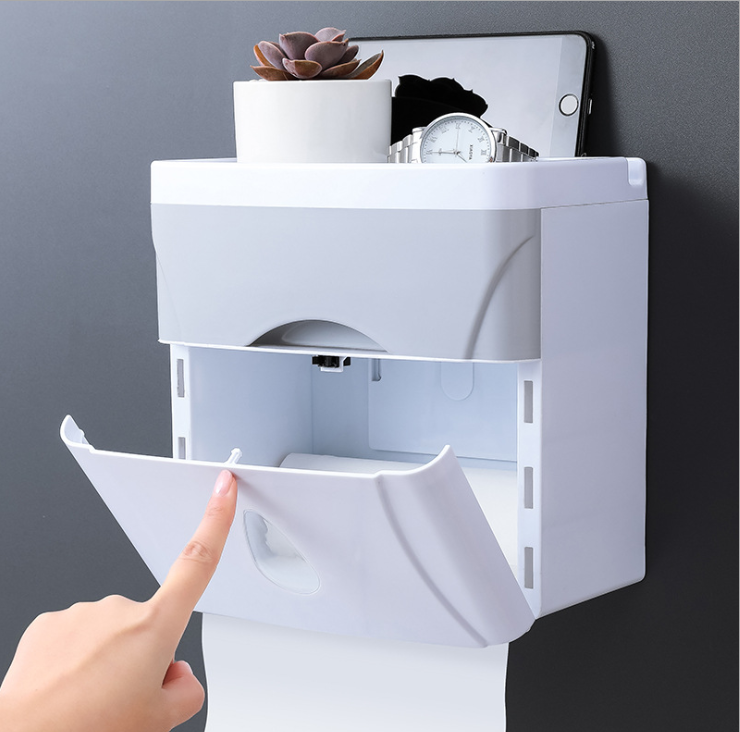 Wall Mounted Toilet Roll Tissue Holder Bathroom Paper