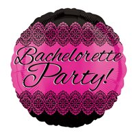 Bachelorette Party Lace Round Balloon